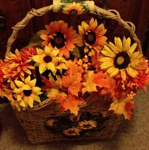 "Beautiful fall basket 22"" high"